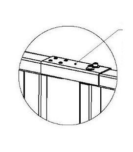 PERCo-RF01 0-06 Накладка верхняя для стыковки дополнительной секции ограждения