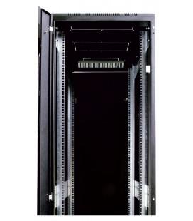 Шкаф телекоммуникационный напольный 47U (600х1000) черный, дверь перфорированная 2 шт.