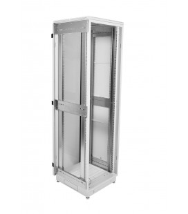 Шкаф телекоммуникационный напольный 33U (600x600) дверь стекло