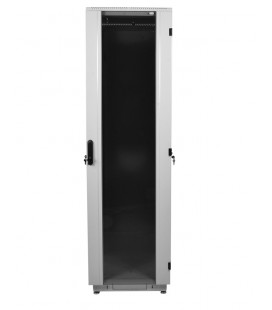 Шкаф телекоммуникационный напольный 42U (600x1000) дверь стекло