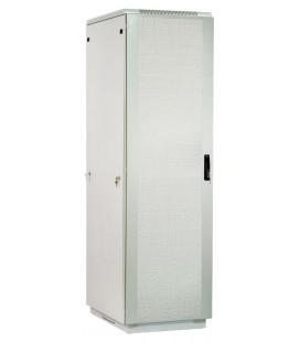 Шкаф телекоммуникационный напольный 47U (600x1000) дверь перфорированная 2 шт., серый