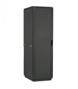 Шкаф телекоммуникационный напольный 47U (800х1000) черный, дверь перфорированная 2 шт.
