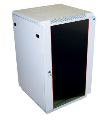 Шкаф телекоммуникационный напольный 22U (600x600) дверь стекло