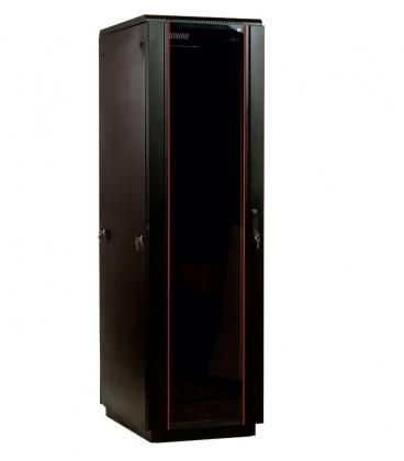 Шкаф телекоммуникационный напольный 38U (600x1000) дверь стекло, цвет чёрный