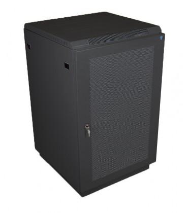 Шкаф телекоммуникационный напольный 22U (600x1000) дверь перфорированная 2 шт., цвет чёрный