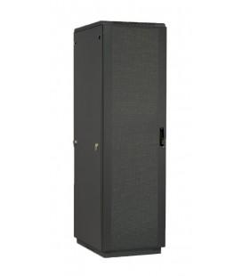 Шкаф телекоммуникационный напольный 42U (600x1000) дверь перфорированная 2 шт., черный