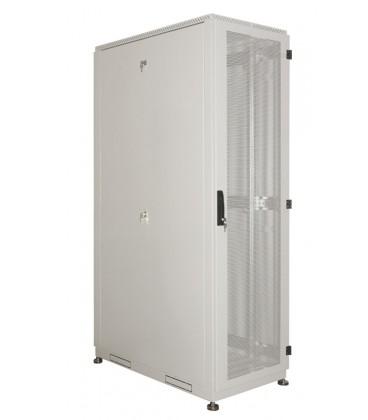 Шкаф серверный напольный 42U (600x1000) дверь перфорированная, задние двойные перфорированные