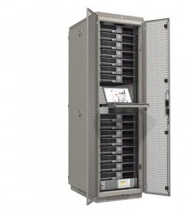 Шкаф серверный напольный 42U (600x1200) дверь перфорированная, задние двойные перфорированные