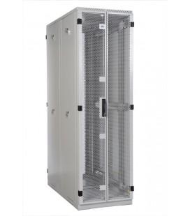 Шкаф серверный напольный 45U (600x1200) дверь перфорированная, задние двойные перфорированные