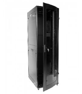 Шкаф телекоммуникационный напольный ПРОФ универсальный 42U (600x1000) дверь стекло, чёрный, в сборе