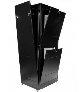 Шкаф телекоммуникационный напольный ПРОФ универсальный 42U (600x800) дверь стекло, чёрный, в сборе
