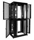 Шкаф серверный ПРОФ напольный колокейшн 46U (600x1200) 2 секции, дверь перфор. 2 шт., черный, в сборе