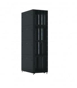 Шкаф серверный ПРОФ напольный колокейшн 44U (600x1000) 4 секции, дверь перфор. 2 шт., черный, в сборе
