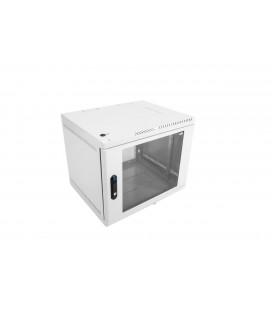 Шкаф телекоммуникационный настенный 12U (600х480) дверь стекло