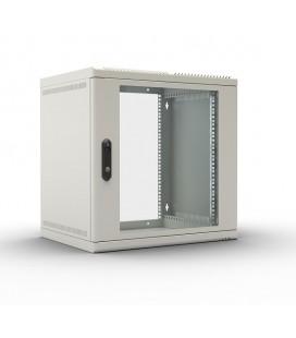 Шкаф телекоммуникационный настенный 9U (600х480) дверь стекло