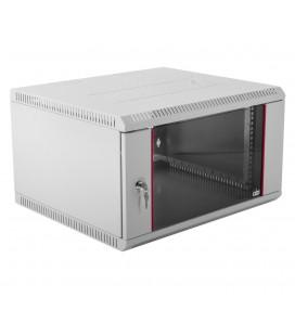 Шкаф телекоммуникационный настенный разборный 9U (600х350) дверь стекло