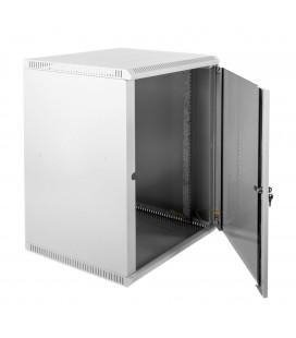 Шкаф телекоммуникационный настенный разборный 18U (600х520) дверь стекло