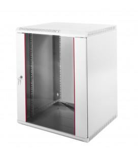 Шкаф телекоммуникационный настенный разборный 15U (600х650) дверь стекло