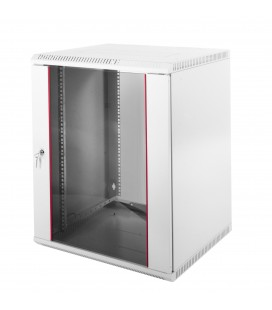 Шкаф телекоммуникационный настенный разборный 12U (600х520) дверь стекло