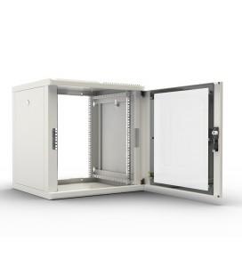 Шкаф телекоммуникационный настенный разборный 12U (600х520), съемные стенки, дверь стекло