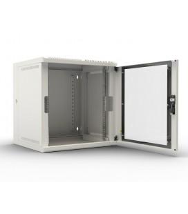 Шкаф телекоммуникационный настенный откидной 9U (600х520) дверь стекло