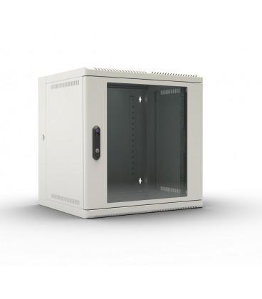 Шкаф телекоммуникационный настенный откидной 6U (600х520) дверь стекло