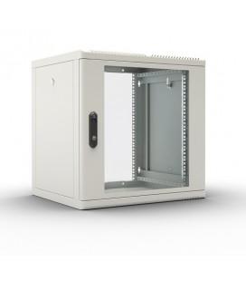 Шкаф телекоммуникационный настенный разборный 9U (600х650), съемные стенки, дверь стекло