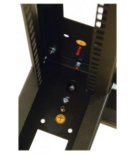 Стойка телекоммуникационная универсальная 24U двухрамная, цвет черный