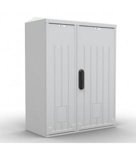 Шкаф уличный всепогодный настенный 12U (Ш600 × Г300), полиэстер, дверь двухстворчатая