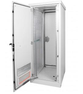 Шкаф уличный всепогодный напольный 24U (Ш700хГ600), две двери металлические, передняя дверь вентилируемая
