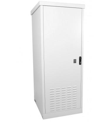 Шкаф уличный всепогодный напольный 18U (Ш700хГ900), две двери металлические, передняя дверь вентилируемая