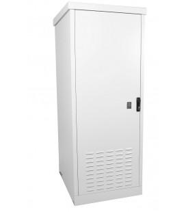 Шкаф уличный всепогодный напольный 18U (Ш700хГ600), две двери металлические, передняя дверь вентилируемая