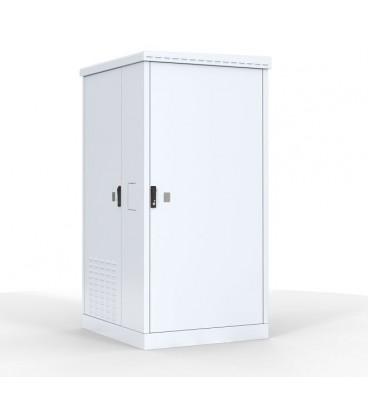 Шкаф уличный всепогодный напольный 12U (Ш1000хГ600) с электроотсеком, три двери
