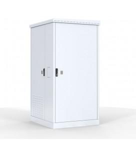 Шкаф уличный всепогодный напольный 12U (Ш1000 × Г900) с электроотсеком, три двери