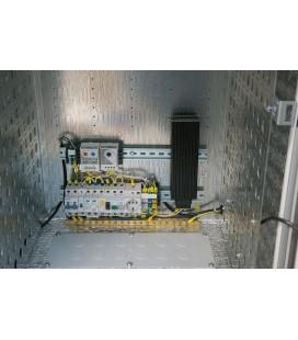 Шкаф уличный всепогодный настенный укомплектованный 6U (Ш600 × Г500), комплектация T1-IP54
