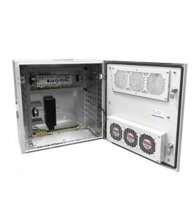 Шкаф уличный всепогодный настенный укомплектованный 9U (Ш600хГ300), комплектация T2-IP65