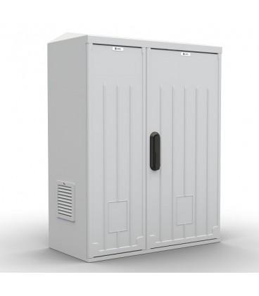 Шкаф уличный всепогодный настенный укомплектованный 12U (Ш600×Г300), полиэстер, комплектация T1-IP54