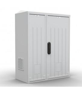 Шкаф уличный всепогодный настенный укомплектованный 15U (Ш600×Г300), полиэстер, комплектация T1-IP54