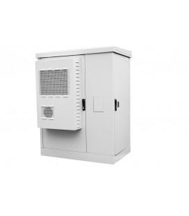 Шкаф всепогодный напольный укомплектованный 24U (Ш1000 × Г900) с эл. отсеком, комплектация ТК-IP54