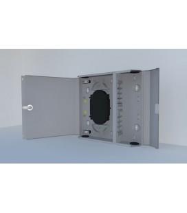 Оптический бокс (кросс) настенный, одна дверь, замок, до 24 портов