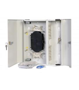 Оптический бокс (кросс) настенный, две двери, 2 замка, до 24 портов