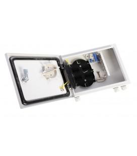 Оптический бокс (кросс) IP 55 настенный, одна дверь, замок, до 8 портов