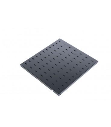 Полка перфорированная грузоподъёмностью 100 кг., глубина 450 мм цвет черный