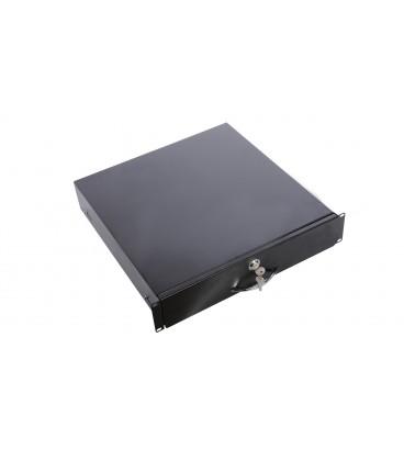 Ящик для документации 2U, цвет RAL9005 черный