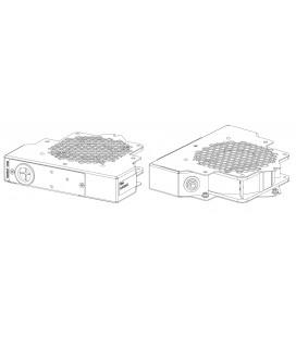 Модуль вентиляторный, 1 вентилятор, подключение на клемн. колодку, серый