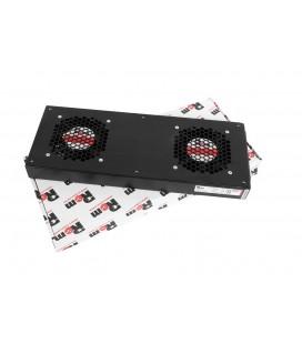 Модуль вентиляторный, 2 вентилятора, колодка, черный