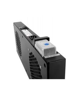 Модуль вентиляторный, 2 вентилятора с терморегулятором, чёрный