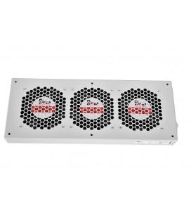 Модуль вентиляторный, 3 вентилятора, колодка, черный