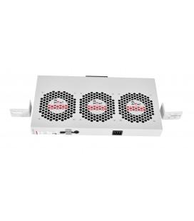 """Модуль вентиляторный 19"""" 1U, 3 вентилятора, регул. глубина 200-310 мм с контроллером"""