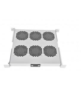 """Модуль вентиляторный 19"""" 1U, 6 вентиляторов, регул. глубина 390-750 мм с контроллером"""
